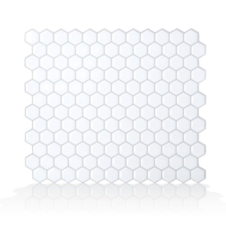 Mosaik+Hexago+11.27_+x+9.63_+Peel+&+Stick+Mosaic+Tile+in+White