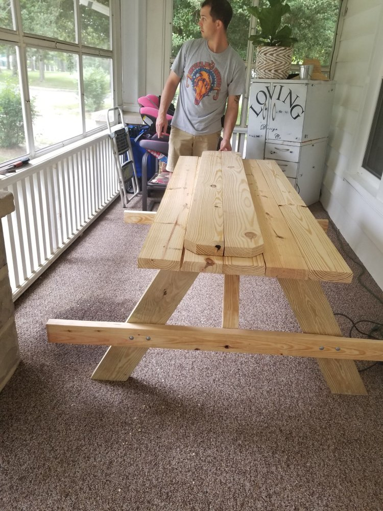 Picnic Table Kit From Lowes Steel Toes Amp High Heels