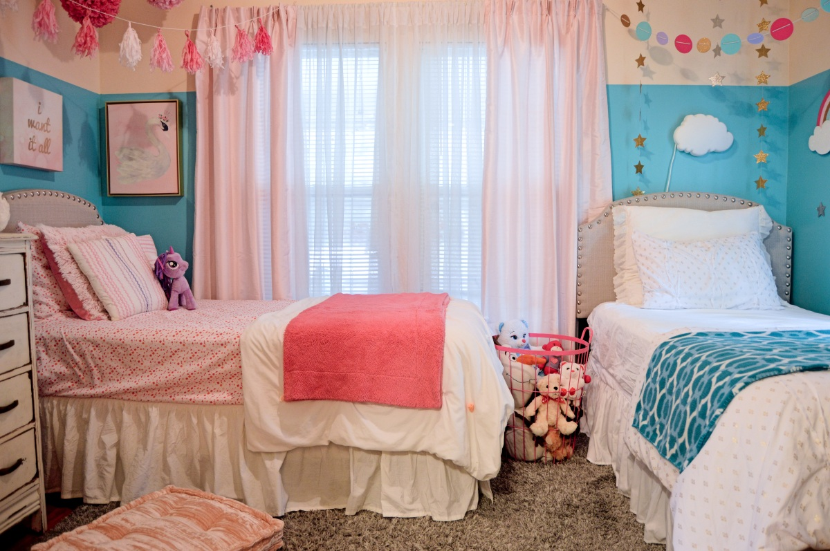 Maci and Sadie's Shared Room