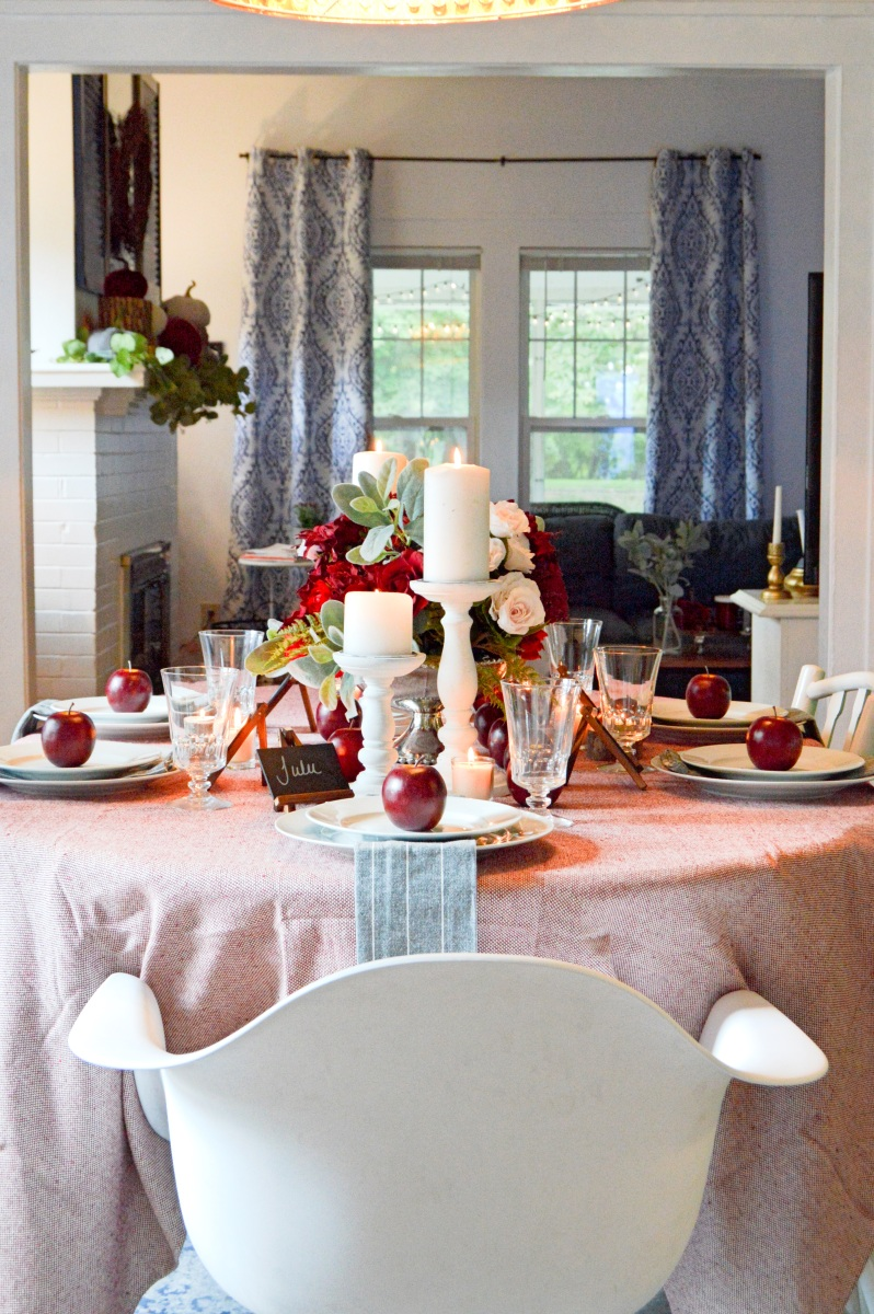Fall Dining Room and Table Scape